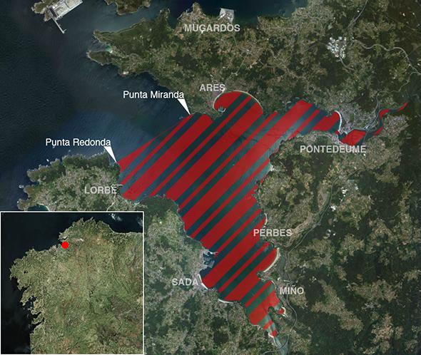 Límites zona de pesca Ría de Ares/Betanzos