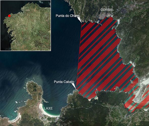 Límites zona de pesca Ría de Corme/Laxe