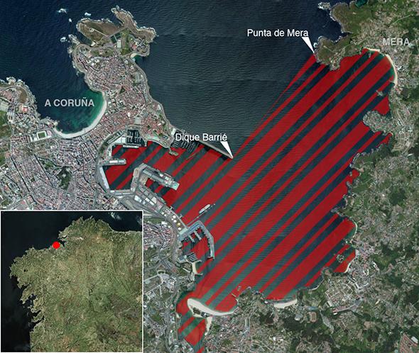 Límites zona de pesca Ría de A Coruña