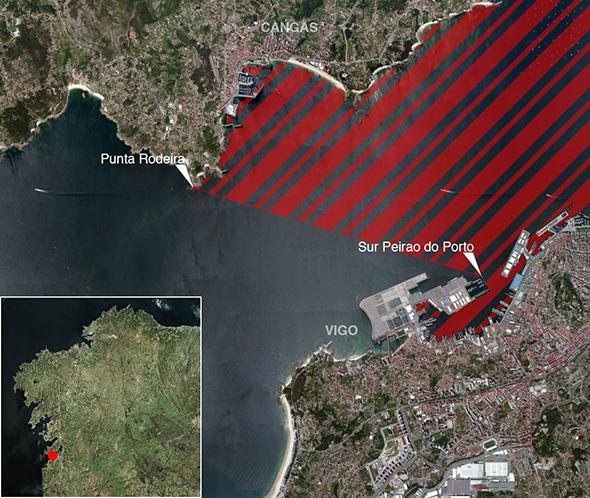 Límites zonas de pesca Ría de Vigo