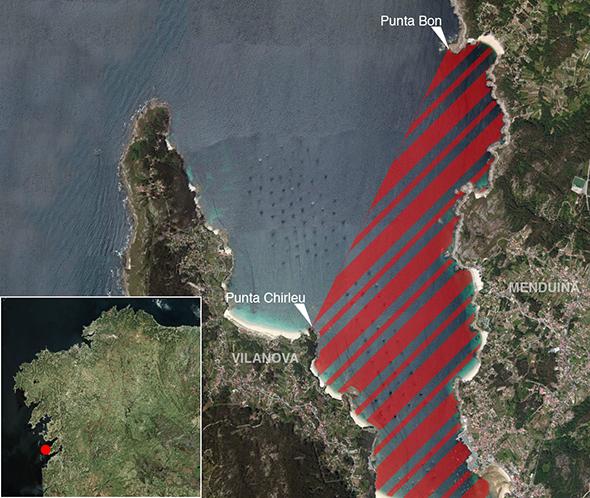 Límites zonas de pesca Ría de Aldán