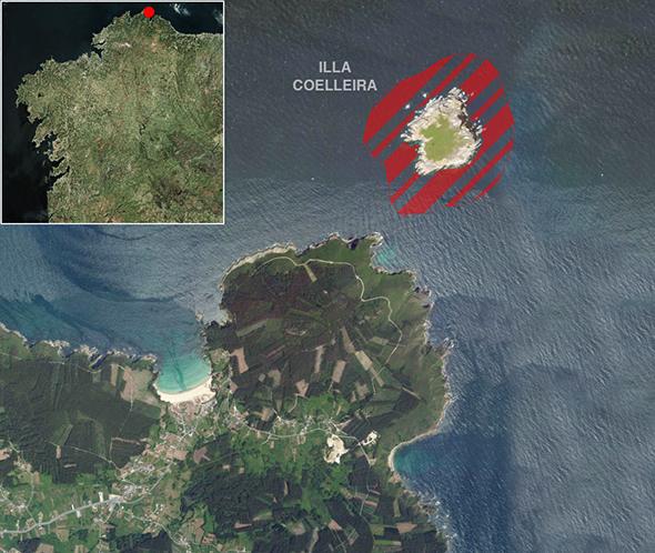 Límites zona de pesca Illa Coelleira
