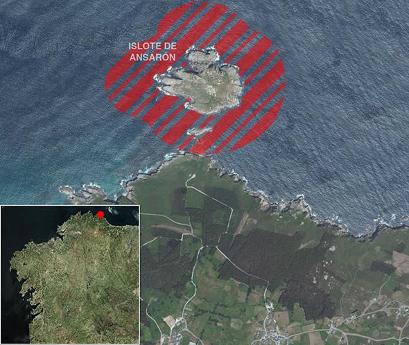 Límites zona de pesca Islote de Ansarón