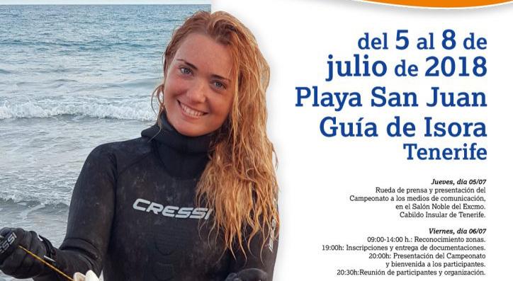 Cartel Campeonato Nacional-Pesca Submarina Femenina 2018